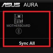 AURA RGB Application Component Selection