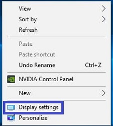 Display settings for laptop