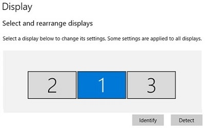 Identify to arrange displays in order