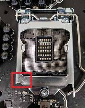 CPU socket lineup arrow
