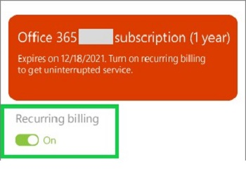 office account setup page on web, billing options