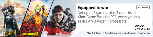AMD Equipped to Win. Buy select AMD Ryzen CPUs and choose betweet Borderlands 3 and the Outer Worlds.