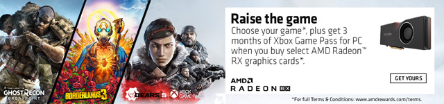 Raise The Game. Choose your game, plus get 3 months of Xbox Game Pass for PC when you buy select AMD Radeon RX graphics cards.