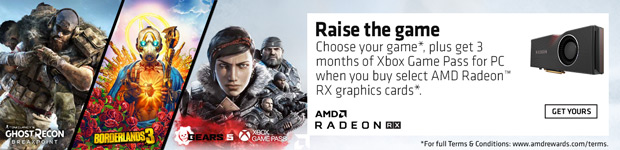 AMD Raise the Game - Buy select AMD Radeon RX video cards and get Borderlands 3 or Tom Clancy's Shost Recon Break Point.
