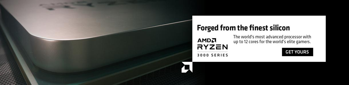 Forged from the finest silicon. AMD Ryzen 3000