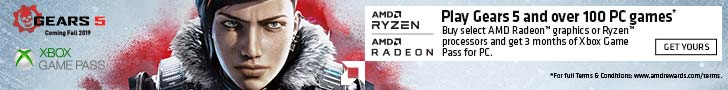 Buy select AMD Radeon graphics or Ryzen processors and get 3 months of Xbox Game Pass for PC