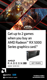 AMD Raise the Game - Buy select AMD Radeon RX series video cards and get games free.