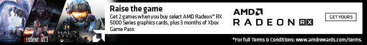 Raise the game. Get 2 games when you buy select AMD Radeon RX 5000 Series graphics cards, plus 3 months of Xbox Game Pass