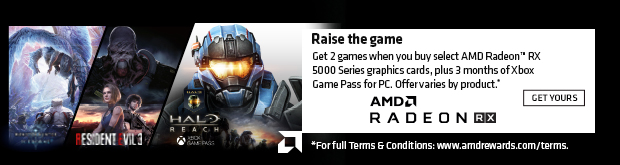 AMD Raise the Game - Buy select AMD Radeon RX 5500 series video cards and get 2 games free plus 3 months of Xbox Game Pass for PC.