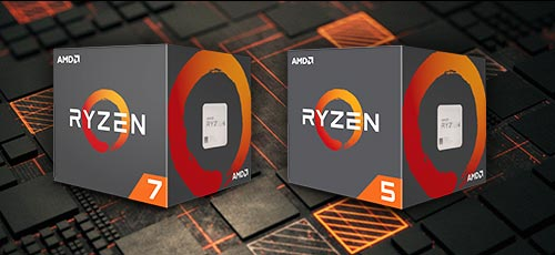 AMD Ryzen 2nd Gen processor boxes