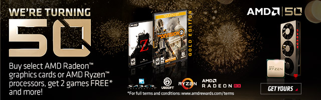 Buy an eligible AMD Radeon video card or system with eligible Radeon video card, get FREE GAMES!