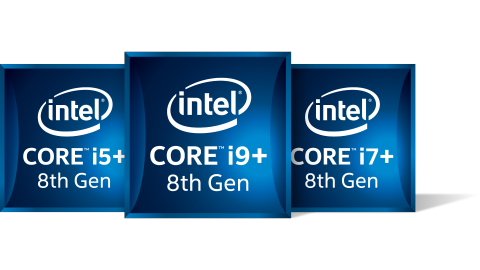 Intel 8th Gen Core i plus family of badges