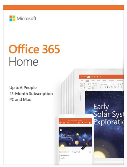 Office 365 Home product images