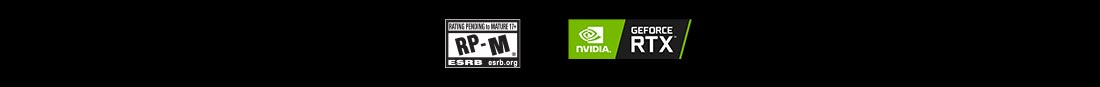 Rating Pending Mature logo and NVIDIA Geforce RTX logo