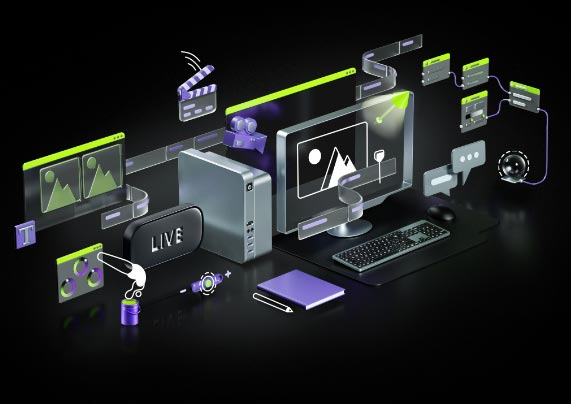 System setup with NVIDIA working behind the scenes