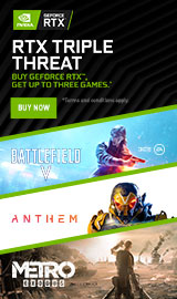 RTX Triple Threat. Buy GeForce RTX, get up to 3 games!