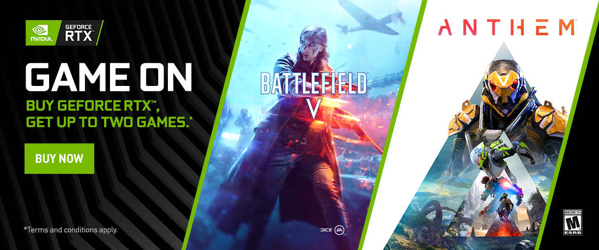 Game On. Buy GeForce RTX, Get Up To Two Games.