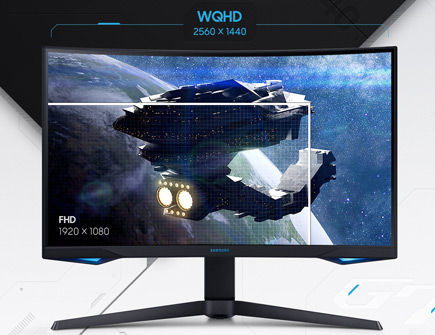 Image of monitor showing full HD graphics