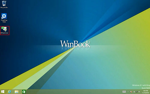 WinBook Tablet Desktop Screen with WBOptimize