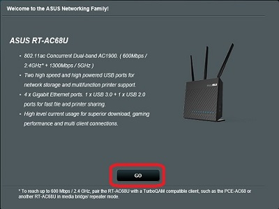 Router Setup Screen