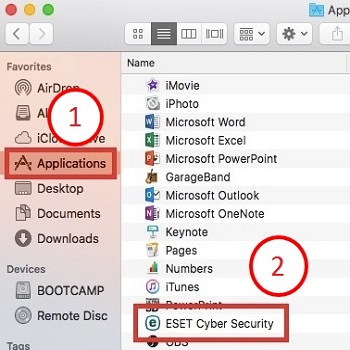 Micro Center - How to uninstall ESET Cyber Security in Mac OS X El