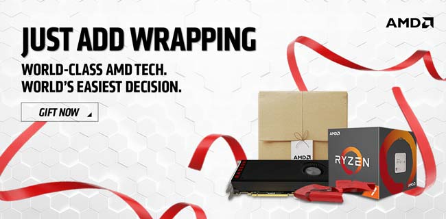Just Add Wrapping - World-class AMD tech, World's easiest decision. GIFT NOW