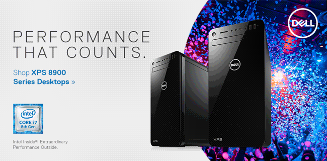 Dell - Performance that counts. Shop XPS 8900 Series Desktops featuring Intel Core 8th Gen i7 processors.