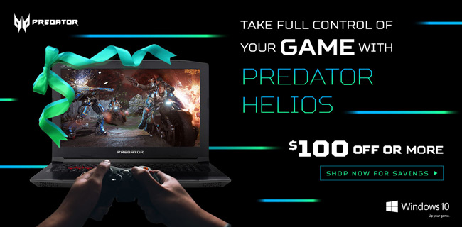 Acer Predator - Take Full Control of Your Game with Predator Helios - $100 OFF or MORE - Shop Now for Savings