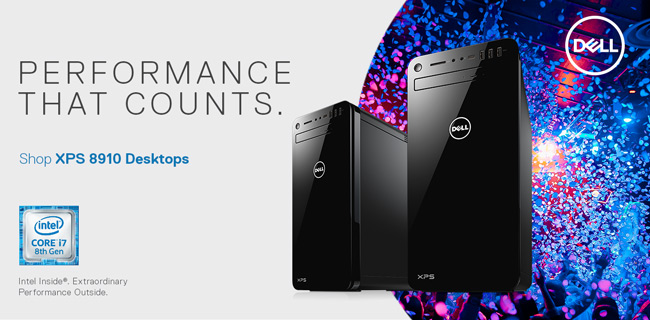 Performance that Counts. Shop Dell XPS 8910 Desktops