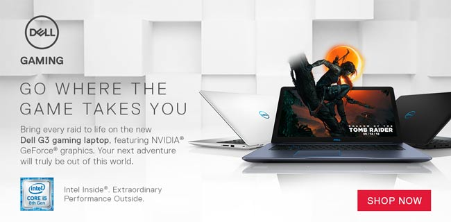 Dell Gaming - Go Where the Game Takes You - Bring every raid to life on the new Dell G3 gaming laptop, featuring NVIDIA GeForce graphics. Your next adventure will truly be out of this world. Shop Now