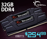 G. Skill 32GB DDR4 $254.99, SKU 098715