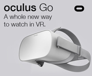 Oculus Go. A whole new way to watch in VR skus 780429 and 780437