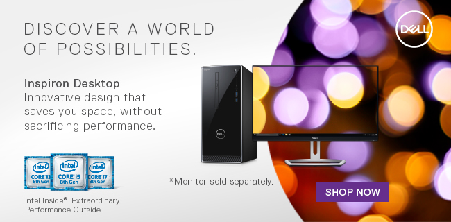 Discover a World of Possibilities - Dell Inspiron Desktop - Innovative design that saves you space, without sacrificing performance.