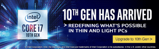 Intel 10th Gen has Arrived - Redefining what's possible in thin and light PCs; Upgrade to 10th Gen