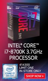 Intel Core i7-8700K Coffee Lake 3.7 GHz LGA 1151 Boxed Processor