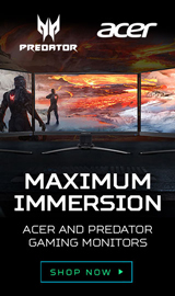 Acer and Predator Gaming Monitors.Maximum Immersion.