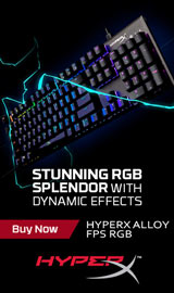 RGB backlit keys with radiant lighting effects. HyperX