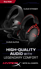 HyperX Headsets. High-Quality Audio with Legendary Comfort.