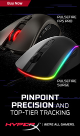 HyperX Pulsefire. Pinpoint Precision and Top-Tier Tracking.