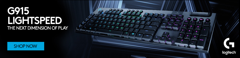 Logitech G915 LIGHTSPEED. The Next Dimension of Play!