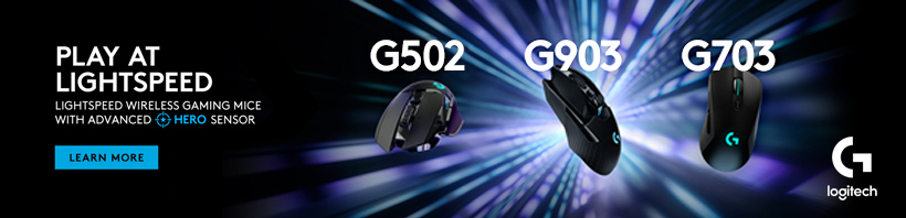 Lightspeed Wireless Gaming Mice with Advanced HERO Sensor! Logitech.