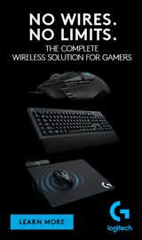 No Wires. No Limits. The Complete Wireless Solution for Gamers. Logitech.