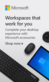 Workspaces that work for you. Complete your desktop experience with Microsoft Accessories.