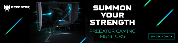 Acer Predator Gaming Monitors. Summon Your Strength