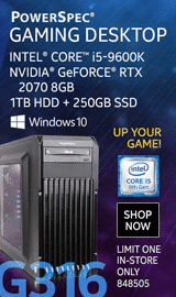 PowerSpec G316 Gaming Desktop PC