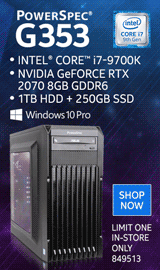 PowerSpec G353 Gaming Desktop Computer