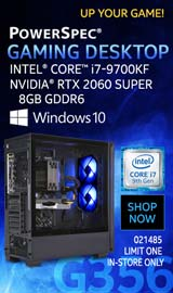 PowerSpec G356 Gaming Desktop PC