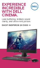Experience incredible with Dell Cinema. Inspiron 24 3000