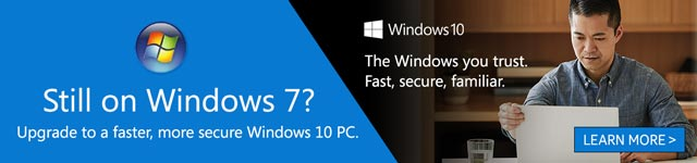 Still on Windows 7? Upgrade to a faster, more secure Windows 10 PC.