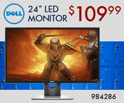 Dell 24 inch class gaming monitor; $109.99